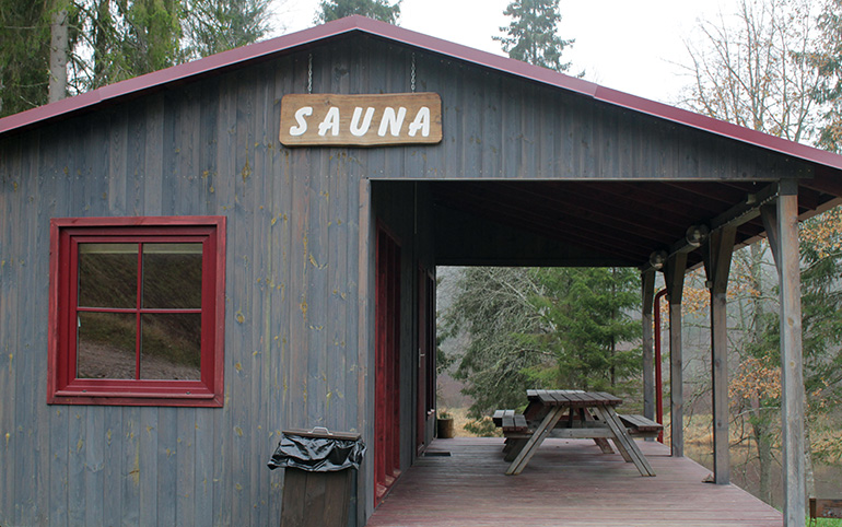 Sauna at the Gauja